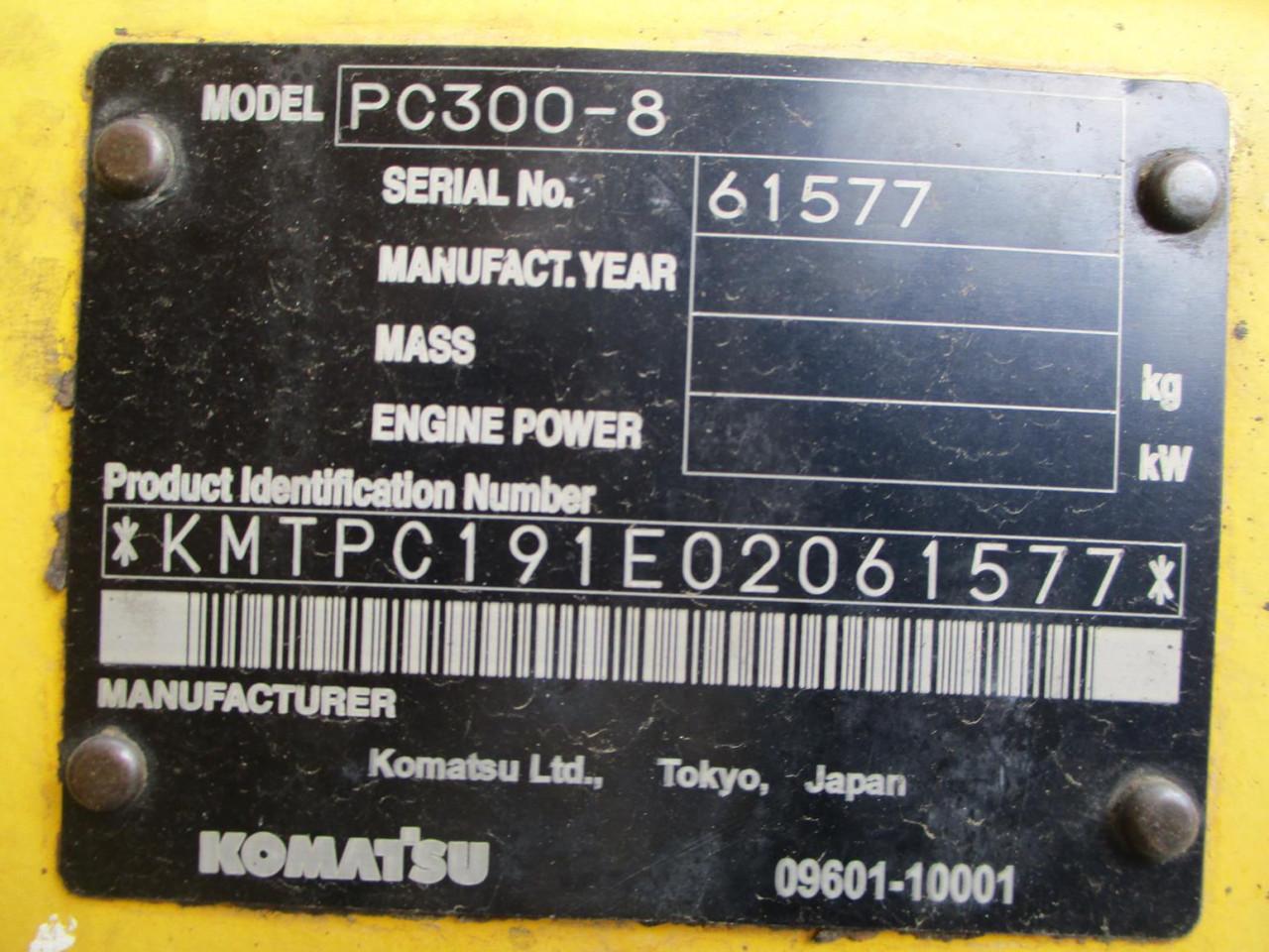 ALAT BERAT KOMATSU PC300-8