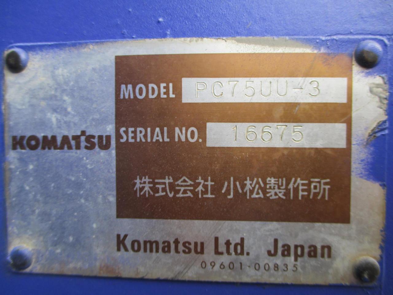 ALAT BERAT KOMATSU PC75UU-3